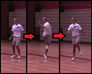 skip and crossover basketball training drill