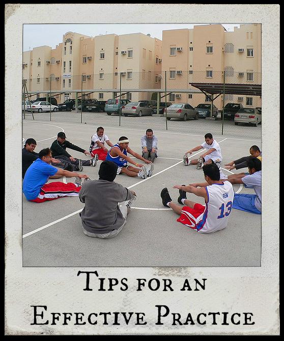 coaching basketball practice