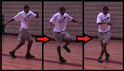 crossover skip beginner basketball drill