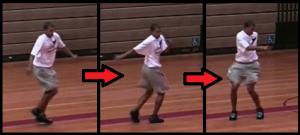 side skip beginner basketball drill