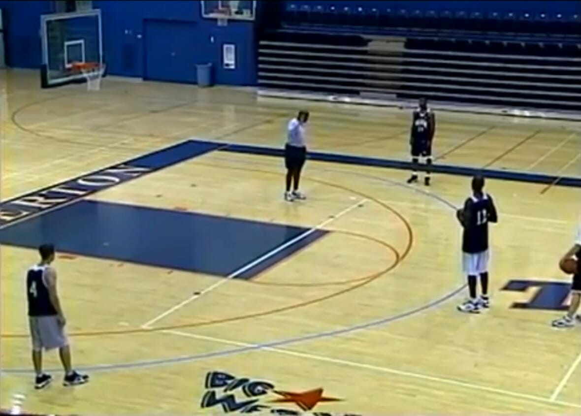 Two-Ball Shooting Youth Basketball Drill for Motion Offense