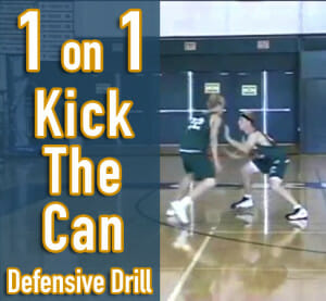 kick the can defensive drill