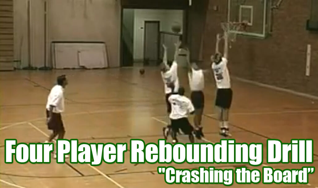 four player rebounding drill