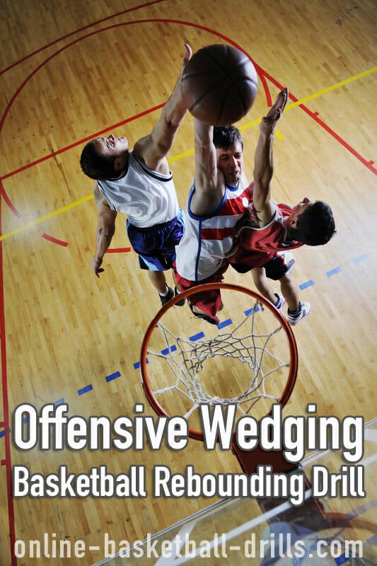 offensive wedging rebounding drill