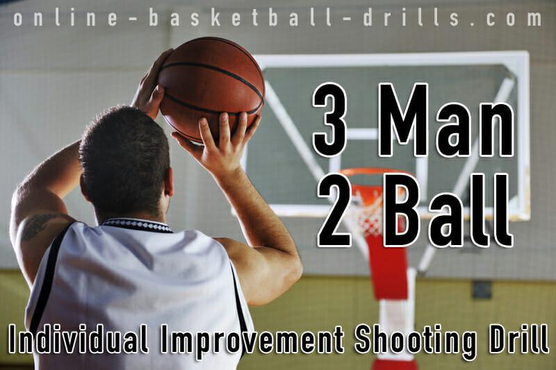 3 man 2 ball shooting drill