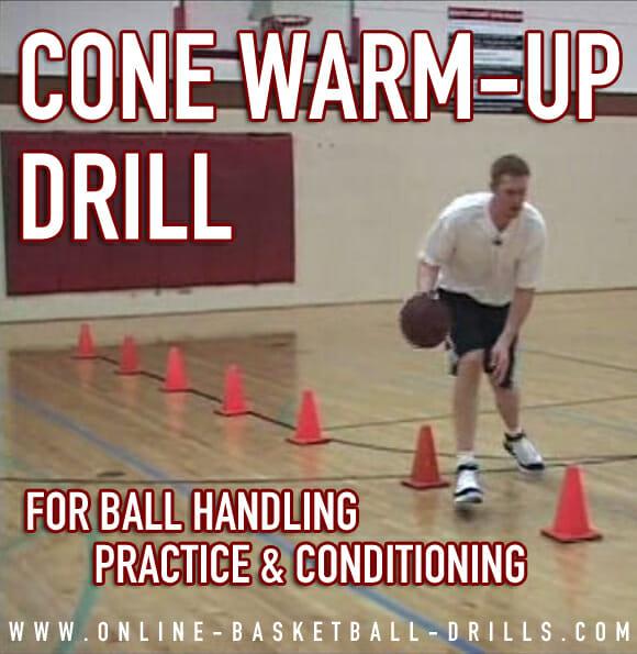 ball handling drills cone warmup