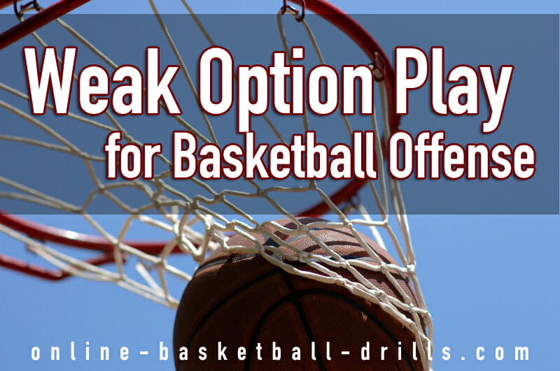 weak option play basketball offense