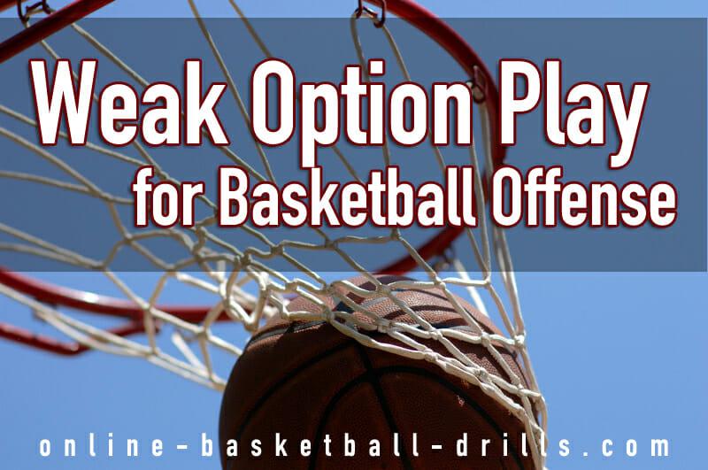 weak option play basketball offense
