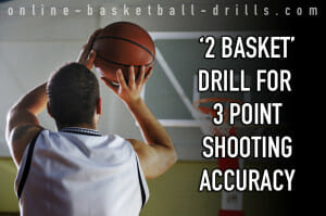 2 basket 3 point shooting drill