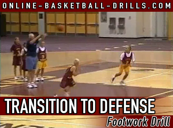 transition to defense footwork drill