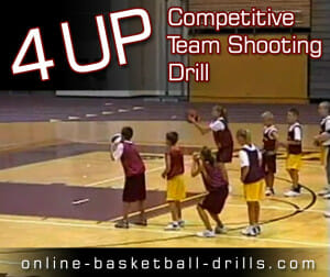 4 up team shooting drill