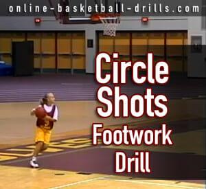 circle shots footwork drill