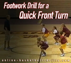 footwork drill for front turn