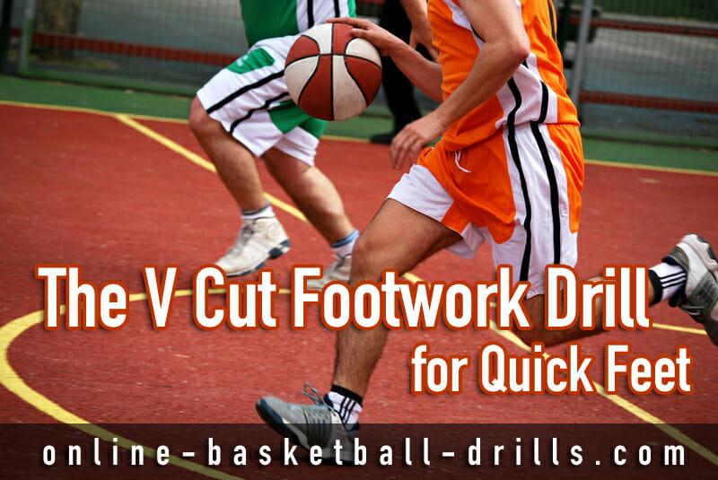 v cut footwork drill