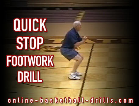 quick stop footwork drill