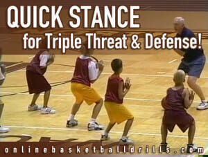 quick stance triple threat defense copy