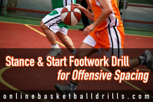 stance and start footwork drill