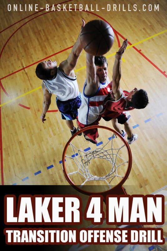 laker 4 man transition offense drill2