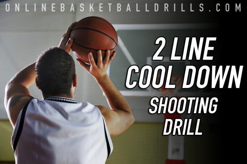 """Fun Shooting Drill Shooting Tips: """"2 Line Shooting"""" Cool Down Basketball Shooting Drill"""