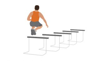 hurdle jumps basketball conditioning drill